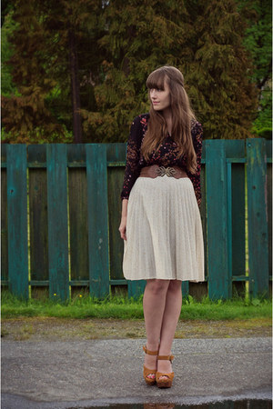 vintage skirt - Jeffrey Campbell shoes - madewell top