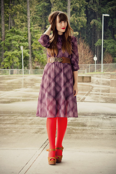 vintage dress - Jeffrey Campbell shoes - modcloth belt