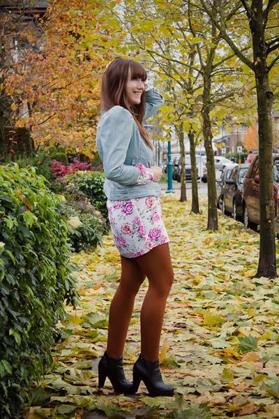 Blowfish shoes - asoscom dress - H&M jacket - asoscom tights