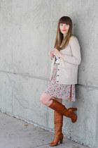 modcloth skirt - Aldo boots - madewell sweater
