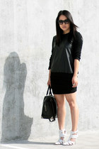 black Zara shirt - white Alexander Wang shoes - black emile Alexander Wang bag