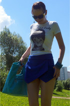 Zara shorts - Glance bag - Prada sunglasses - tvoe t-shirt