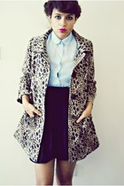 H&M coat - Zara skirt - vintage blouse