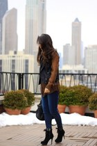 dark brown python Equipment blouse - navy madewell jeans