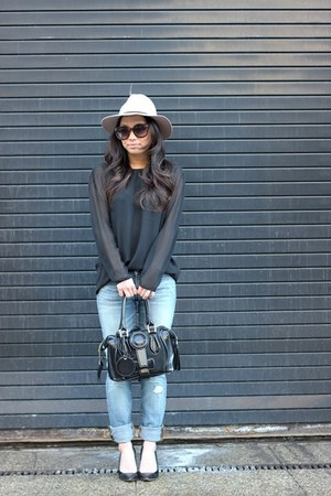 Gap jeans - neutral floppy fedora Topshop hat