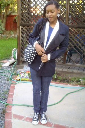 black Walmart purse - blouse - blazer