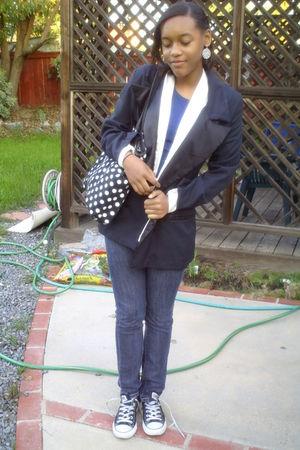 black Walmart purse - blouse - blazer