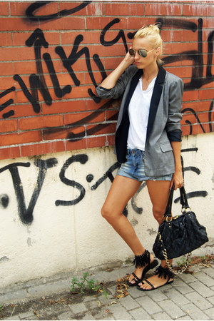BLANCO blazer - Topshop shirt - Marc Jacobs bag - DIY shorts - Topshop sandals