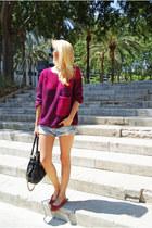 Bershka jumper - H&M shorts - H&M Trend flats