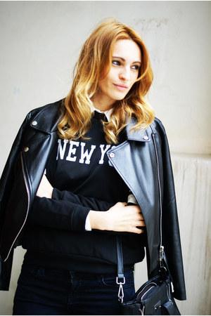 Zara jeans - Romwecom jacket - PERSUNMALL shirt - Converse sneakers