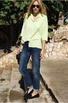 romwe blouse - Topshop jeans