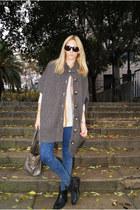 Topshop boots - Topshop jeans - Mango bag - Topshop cardigan