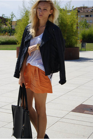 H&M shorts - Zara jacket - Topshop shirt