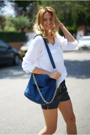 chicnova bag - romwe shorts - Sfera blouse