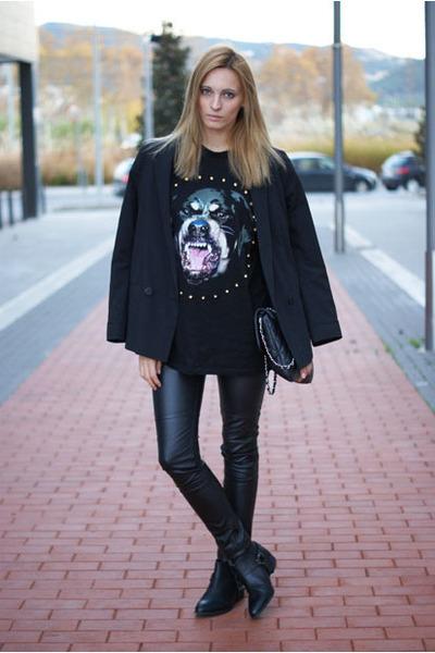 Choies shirt - Zara boots - Topshop blazer - H&M Trend pants