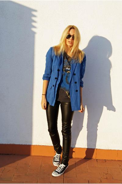 Topshop blazer - Topshop shirt - H&M pants