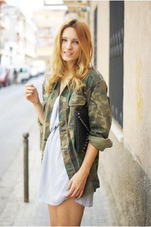 vintage jacket - Topshop dress - romwe bag