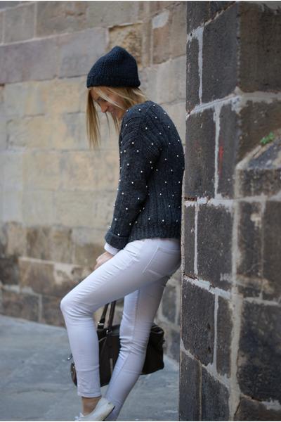 Topshop jumper - H&M Trend jeans - Topshop hat