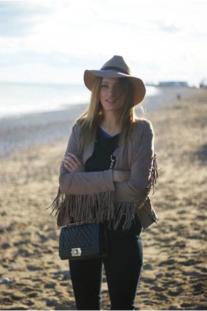 Bershka jacket - Zara jeans - Romwecom bag