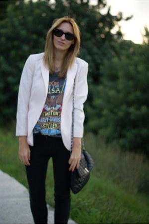 H&M Trend blazer - Romwecom blouse - Topshop pants
