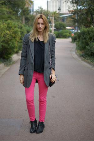Zara boots - Zara jeans - Topshop shirt - pull&bear cape