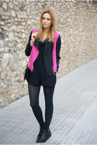 Zara boots - Topshop dress - She Inside jacket