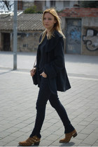 Zara jeans - Fab Shoes boots - Zara shirt - Topshop cape