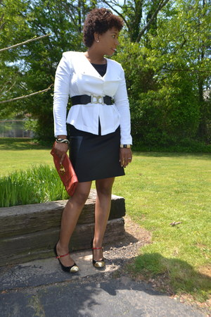 mustard mary jane gianni bini shoes - white peplum LabWorks by Target blazer
