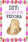 Flower-fedora-hat