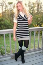 shirt - dress - tights - boots