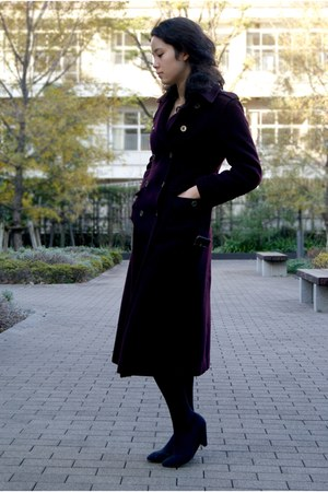 crimson Michel Klein coat - black Zara shoes