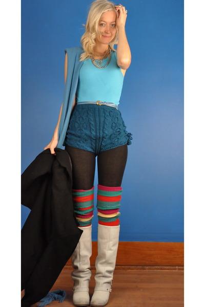 Blue Tops Green Violetville Shorts Black Leggings Greens White Mia | u0026quot;Custom Knit Wool ...