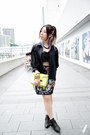 Black-kitterick-shirt-gold-mango-bag-black-twisted-sisters-bra