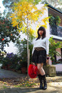 Red-fur-ramdon-hk-bag-leopard-print-h-m-belt-laced-forever21-skirt-h-m-top