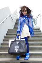 blue mesh coat Forchen Fortune coat - mémoire flash bag