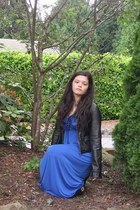 black Aeropostale jacket - blue JC Penny dress - black B Makowsky flats