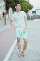 light blue Forever 21 shorts