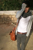 purse - Zara - Zara - Cheap Monday jeans - belt - H&M t-shirt