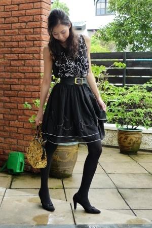 dress - vintage purse