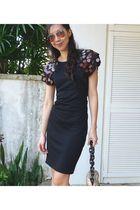 black Diane Von Furstenburg dress - silver