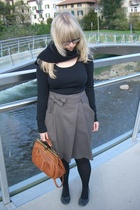 H&M shirt - Sisley skirt - Air Step shoes - Carbino purse