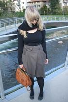 H&M shirt - Sisley skirt - Air Step shoes - Carbino purse