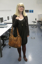 Promod dress - Mango - Calzedonia tights - vagabond - Nuvola Pelle accessories -