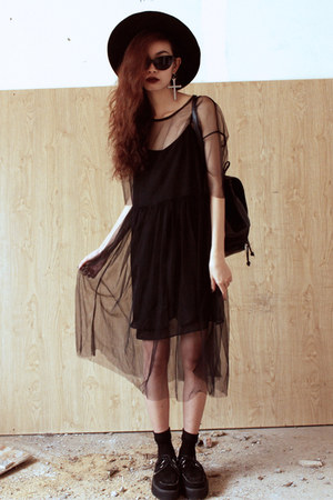 black Front Row Shop dress - black Sheinside dress