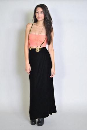 black forever 21 boots - black waisted vintage Vintage Velvet Maxi Skirt skirt