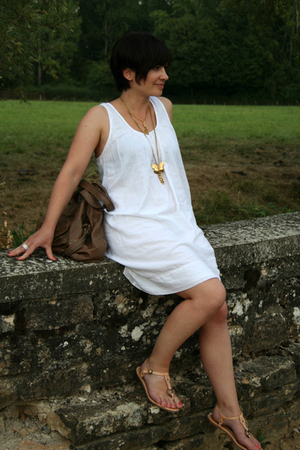 ba&amp;sh dress - Ela Stone necklace - Jerome Dreyfuss purse - Frye shoes - Chanel a