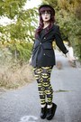 Bowler-h-m-hat-batman-lazy-oaf-leggings-blazer-creepers-tuk-loafers