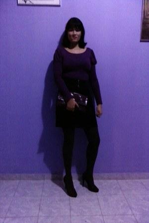 tweed Marisa socks - microfiber Marisa skirt - viscolycra Marisa blouse
