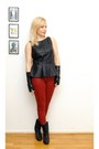 Brick-red-zara-jeans-black-faux-leather-zara-top-black-leather-gloves