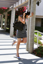 maxi dress Forever 21 dress - polka dots Juicy Couture bag - nautical H&M wedges
